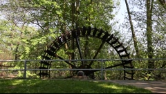 Old water mill Stock Footage