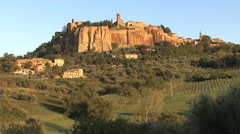 Italy Orvieto side view zooms out Stock Footage