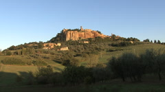Italy Orvieto side view of cliff Stock Footage