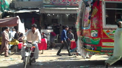 Drive through Streets of Karachi Stock Footage