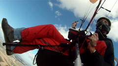 Paraglider turns in thermal 2 Stock Footage