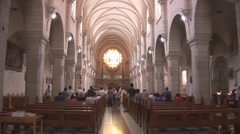 Church of St. Catherine in Bethlehem Stock Footage