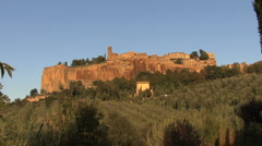 Italy Orvieto stands on a cliff  Stock Footage
