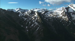 Aerial Rocky Mountains Stock Footage