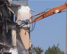 Destruction 4 Old House Stock Footage