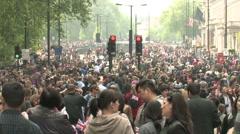 Huge crowds in London Stock Footage