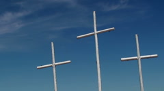 Time Lapse White Church Crosses Stock Footage
