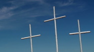 Stock Video Footage of Time Lapse White Church Crosses