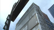 Stock Video Footage of shipping containers