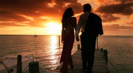 Elegant Couple at Sunset Stock Footage