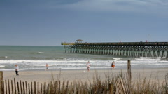 2nd Ave pier Myrtle Beach Stock Footage