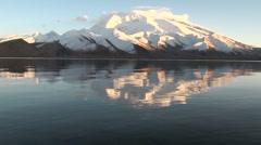 Mirror at Karakul lake Stock Footage