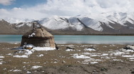 Stock Video Footage of Traditional yurt at Karakul lake, Western China