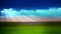Dramatic colurful sky. Stock Footage