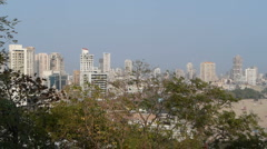 Mumbai skyline P2 Stock Footage