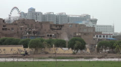 Contrast between old and new Kashgar, a fast changing city in Western China Stock Footage