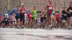 Start of participants of XXX MOSCOW INTERNATIONAL PEACE MARATHON. Stock Footage