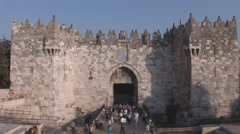 Famous Damascus Gate - stock footage