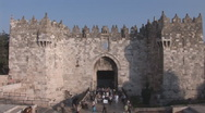 Stock Video Footage of Famous Damascus Gate
