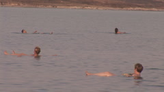 Swimming in the Dead Sea Stock Footage