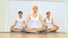 Yoga Class of Multi Ethnic Females Stock Footage
