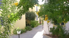 Small street in resort city. Stock Footage