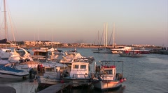 Bunder with boats in Cyprus. Stock Footage