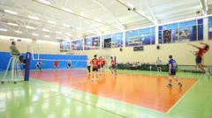 Young men play volleyball. Stock Footage