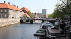 Holmens Canal,Copenhagen Stock Footage