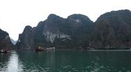 Junk Boat Trip POV in Ha Long Bay (Descending Dragon Bay), Vietnam, Cruise Ship Stock Footage