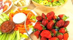 Healthy Lifestyle Fresh Food Stock Footage