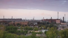 Modern factory with chimneys. Stock Footage