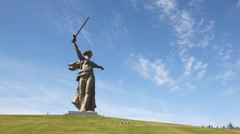 Monument of Native land-mother in Volgograd. Stock Footage