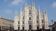 Stock Video Footage of Duomo of Milan