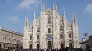 Duomo of Milan Stock Footage