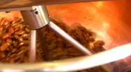 Production of roasted almonds Stock Footage