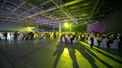 People on banquet. Stock Footage