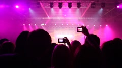 People look concert of popular music Stock Footage