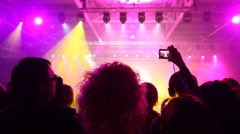 People look concert of popular music - stock footage