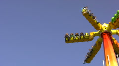 Attraction on a fair in bleed Stock Footage