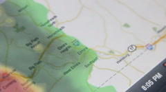Weather map animated timelapse (v.1) Stock Footage