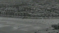 SYDNEY BEACHES IN THE 1960's (helicopter shots) Stock Footage