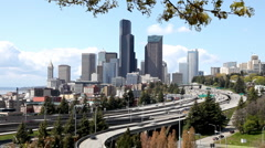 Seattle highway traffic Stock Footage