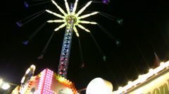 Chairoplane on a fair Stock Footage