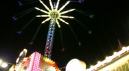 Stock Video Footage of chairoplane on a fair