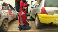 Repair of car Stock Footage