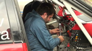 Stock Video Footage of Repair of car