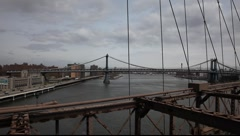 Brooklyn bridge view Stock Footage