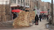 China Kashgar Uyghur woman veiled burka headscarf muslim Islam Stock Footage