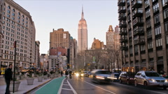 New York Skyline Empire State Building Time-lapse Day-to-Night - 480x270 Stock Footage